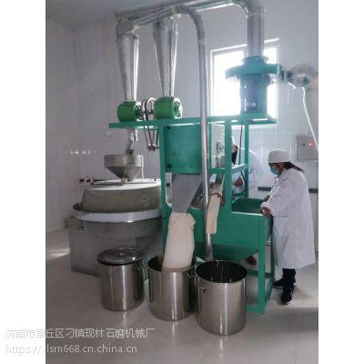 全自动石磨磨粉机 青石耐磨不掉渣杂粮电动面粉石磨