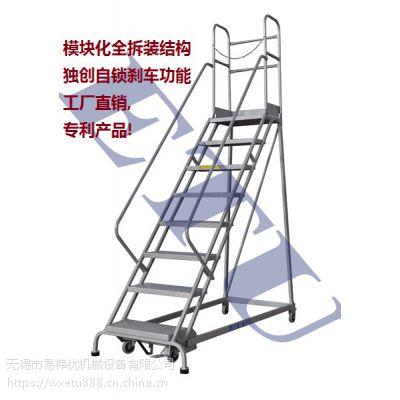 ETU易梯优,RLC355欧式移动登高梯 五层登高梯,特有自锁刹车,专利产品