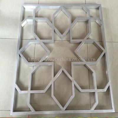 中式木紋鋁花格,仿古鋁掛落廠家,防盜鋁屏風定制