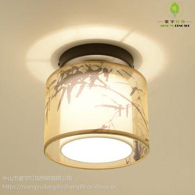 供应 新中式吸顶灯LED过道灯走廊玄关灯圆形现代卧室吸顶灯门厅小灯具