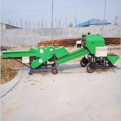 江西省玉米秸秆揉丝包膜机 花生秧打捆包膜机 动物草料包膜机型号