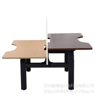 双人联合升降办公金属桌架BTB背靠背电动升降桌智能双人升降简约电脑桌欢迎咨询