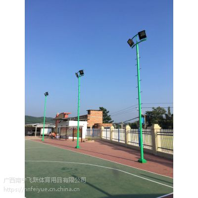 南宁篮球场灯杆户外照明灯杆运动场地专用灯杆