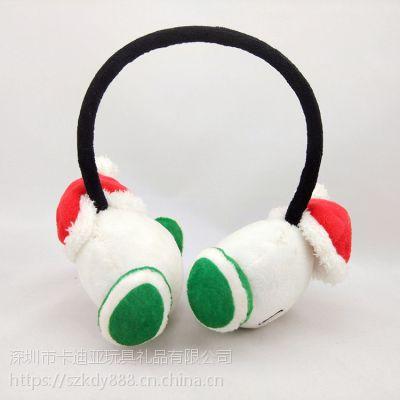 短毛绒耳机来图定制毛绒玩具厂家批发