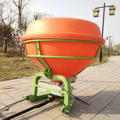 拖拉机三点悬挂式撒肥机 后输出轴悬挂化肥抛洒机 大容量底肥抛洒机