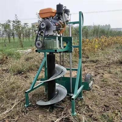 手提式植树打窝机 启航牌养殖场篱笆用打洞机 大棚埋桩挖坑机