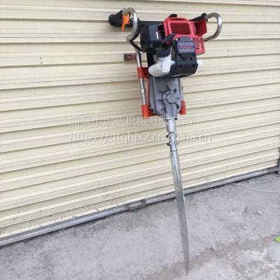 便携式汽油挖树机 多功能启航牌锯齿式挖树机 瓮安县汽油铲头式起树机