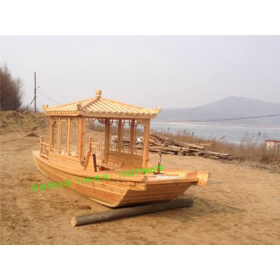 山西厂家木船出售观光木船 木质游船 可改进电动推进 手划客船