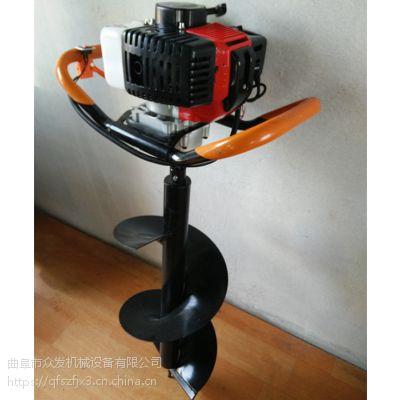 园林绿化挖坑机打坑机型号齐全 立式螺旋挖坑机价格