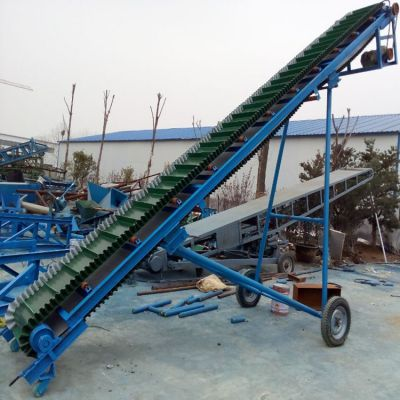 格挡式带式输送机图片 兴亚粮仓厂家制作皮带输送机