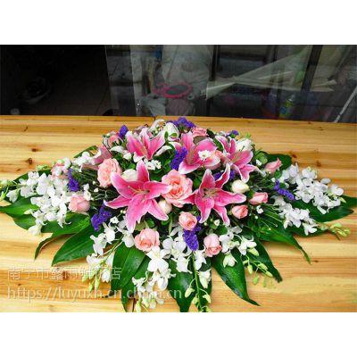南宁市台花签到桌花会议商务鲜花15296564995讲台花主持桌面台花配送