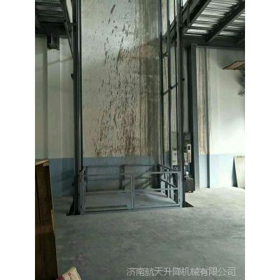 三明鞋廠升降貨梯定制 室內固定式升降台 二層導軌式舉升機價格 济阳厂家