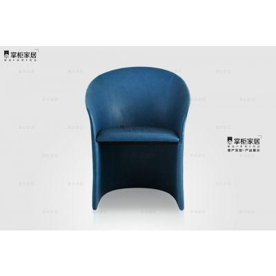 设计师休闲椅 酒店椅 Calla Chair 马蹄莲椅 轻奢意大利家具