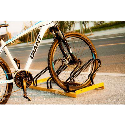 规范自行车停放的卡位式停车架