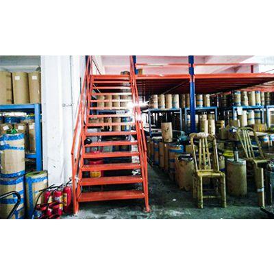 组合分层货架(钢结构组装阁楼货架)设计组合货架