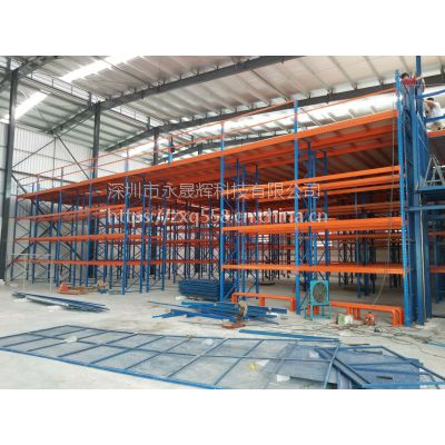 深圳阁楼式货架 重型仓储货架定制 阁楼货架制造商