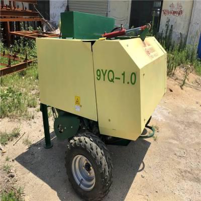 农业用秸秆液压打包机 青贮打捆包膜一体机 干湿牧草保鲜机