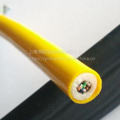 零浮力电缆 高柔抗拉防海水零浮力双绞屏蔽4对8芯网线电缆 定制水下机器人ROV线缆