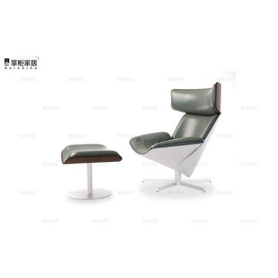 设计师休闲椅 后现代办公椅 意大利现代 ALMORA椅 酒店会所沙发椅