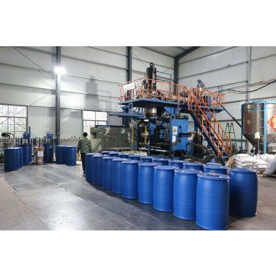 双层双环塑料桶200L容积外蓝内白干净无味化工桶