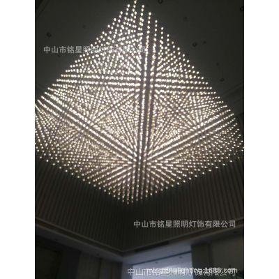 定制售楼部光立方满天星灯quasar沙盘模型展示区中空金属架子灯厂