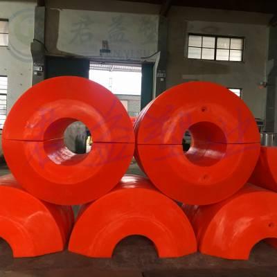 崇明岛700*1200塑料浮筒 管道浮筒孔径300mm 君益浮体