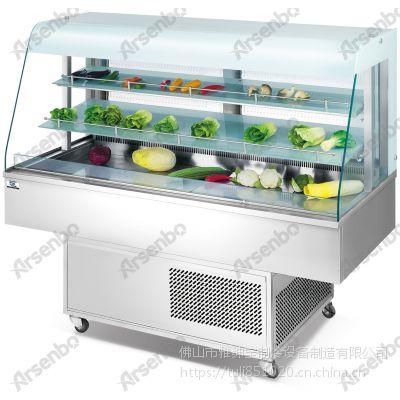 雅绅宝自助餐厅菜品保鲜喷雾柜 蔬菜喷雾冷藏柜 PW-15定做喷雾柜