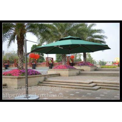 3.5米大型罗马伞 方形吊伞 铝合金侧边伞 庭院户外伞 休闲伞价格 图片 遮阳伞工厂