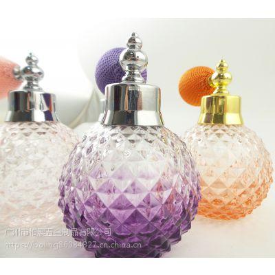 香水瓶100ml 卡口 菠萝瓶+香水气囊喷头 厂家批发