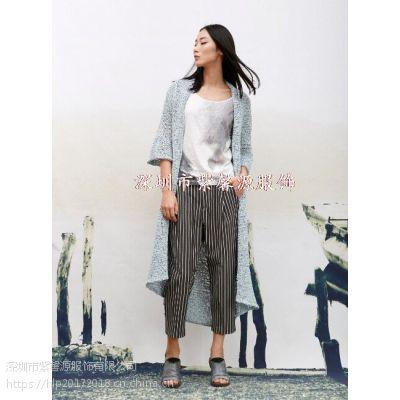 原创设计师一线棉麻品牌女装 深圳必然简约纯色品牌折扣女装货源供应