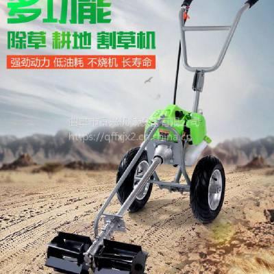 小型汽油四冲程手推式割草机 高效草坪修剪机富兴低价促销