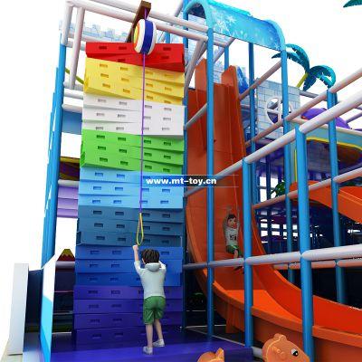 牧童小型室内儿童乐园 安徽攀岩游乐玩具报价 儿童淘气堡配件厂家定制 pvc