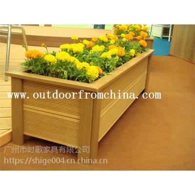 厂家定制直销户外时尚景观花车 实木组合花箱 庭院木质花盆 植物种植箱