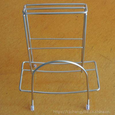 厂家供应厨房用品 多功能不锈钢刀架 砧板刀架 砧板菜板架收纳架