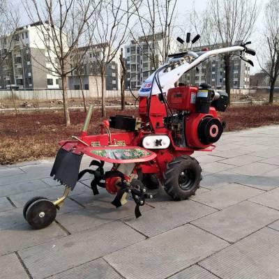热销农机 186cc葱姜种植开沟机茶园专用除草机柴油大马力起垄培土机