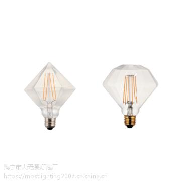长灯条 灯丝灯 钻石泡 玻璃泡壳 装饰灯 价低质优 4W 证书齐全 款式独特 样式多变