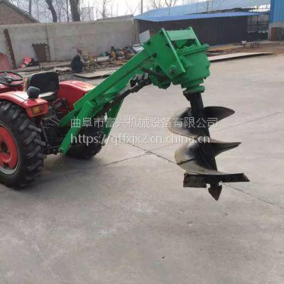 螺旋种植机 带轮子50直径手推植树挖坑机多少钱