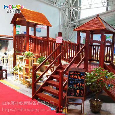 幼儿园木质滑梯 幼儿园实木滑梯组合儿童户外大型游乐设施定制