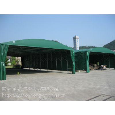 钢管仓储帐篷遮阳棚遮阳篷移动推拉式帐篷76CM钢管大棚有手动也可做电动墨绿色蓝色灰色刀刮布