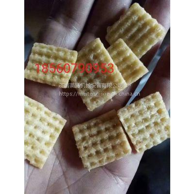 方格压花锅巴膨化机 三角片多力多滋设备 粟米条生产线厂家***