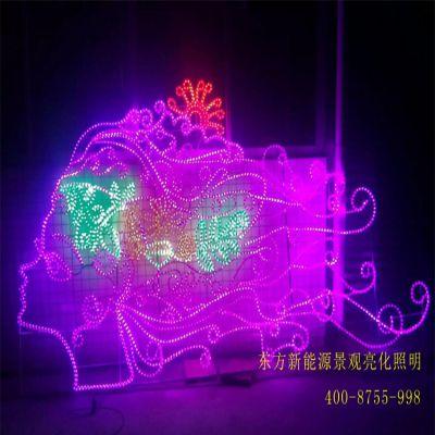 奥光达led过街灯街道亮化工程铁艺造型灯美女头景观灯公园LED跨街造型灯