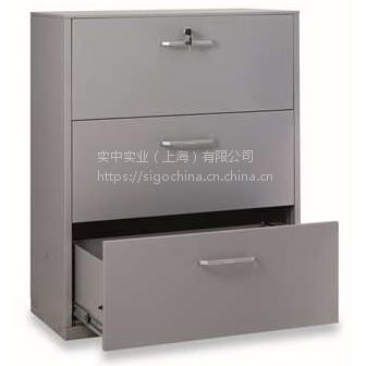 丰锰FM单排中央锁二斗文件柜900×440×758mm(银灰色)金属办公家具