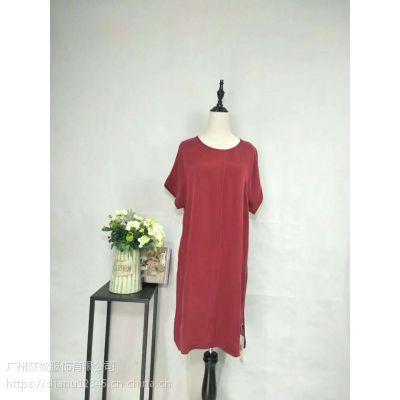杭州大码女装世纪蓝天夏装品牌折扣桑蚕丝折扣新款女装