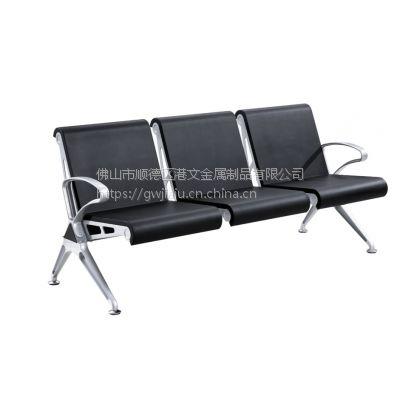 新款GW-PU3016款机场椅,新款排椅,PU材质座板豪华公共座椅 骨架金属款排椅