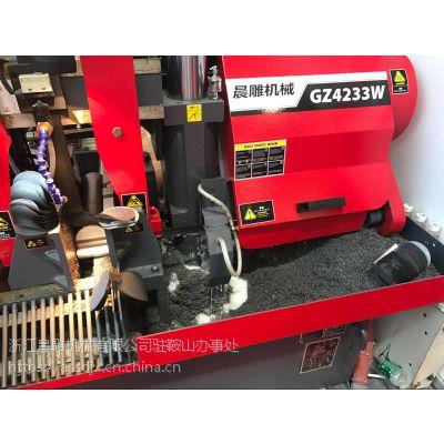 供应晨雕牌双立柱GZ4233W数控全自动带锯床
