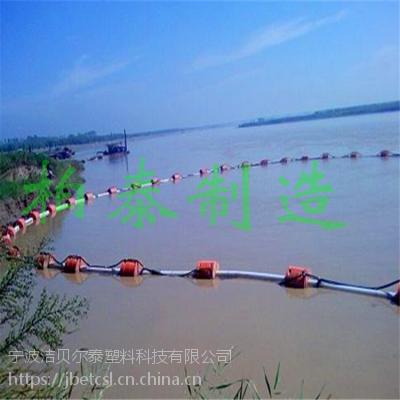 水上抽沙管浮筒夹铁管大浮力塑料浮筒厂家