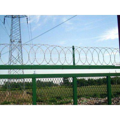 广东飞机场铁丝护栏网 机场防护网 跑道隔离网 Y型护栏柱机场隔离网 润昂直销
