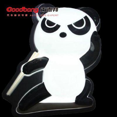 功夫熊猫门头招牌 亚克力吸塑灯箱 户外led立式灯箱制作厂家