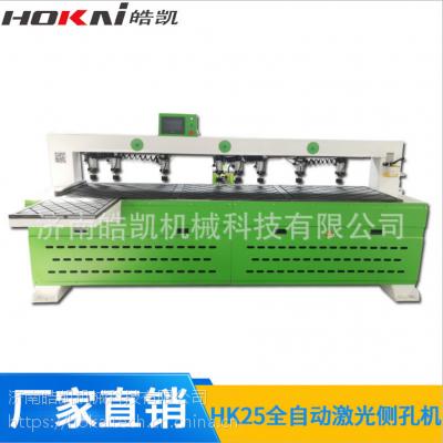 皓凯机械 数控侧孔机 板式家具专用木工机械设备 红外线扫描高速打孔水平钻