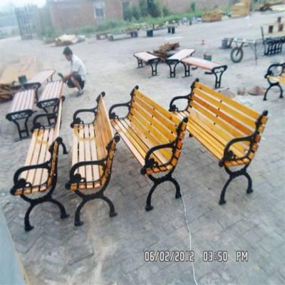 沧州奥博直销批发零售户外休闲椅公园公共室外等候椅 实木长条石头座椅